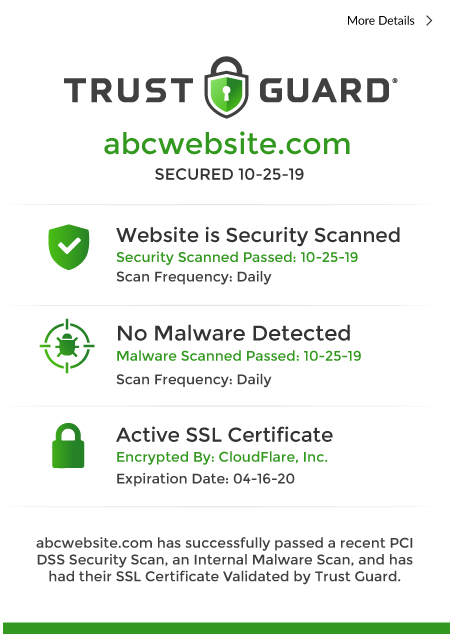 Trust Guard - Certificate Sample